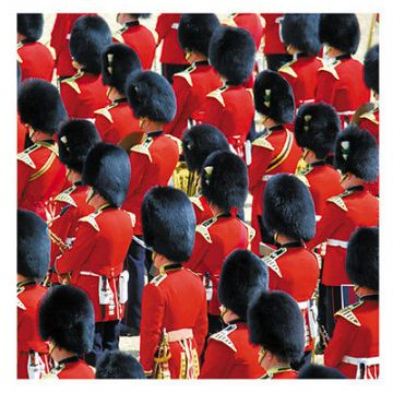 "BLANK CARD ""TROOPING THE COLOUR"" MED SQUARE SIZE 5.5"" x 5.5"" APGG 0006"